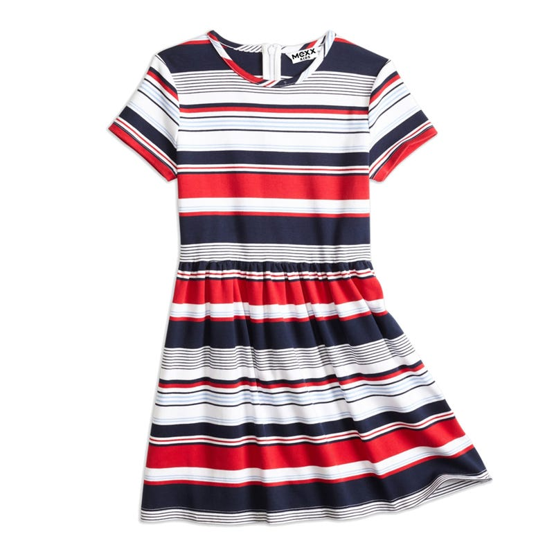 Nautical Striped Dress 7-14y