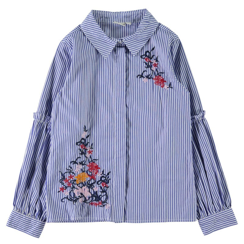 Floral Striped Shirt 8-14y