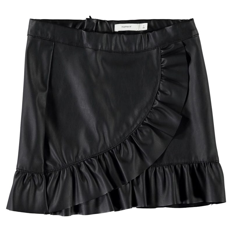 Floral Faux Leather Skirt 8-14y