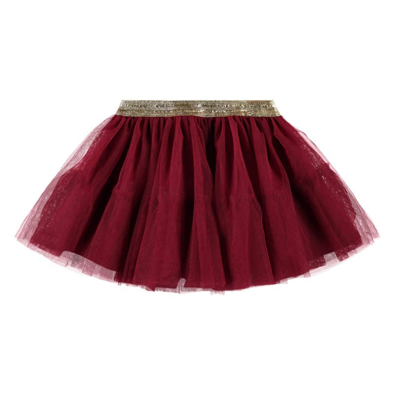 Frosted Flowers Tulle Skirt 2-7y