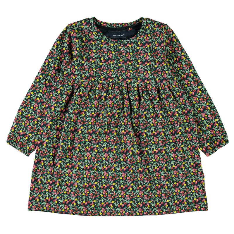 Flower Long Sleeve Printed Dress 2-7y