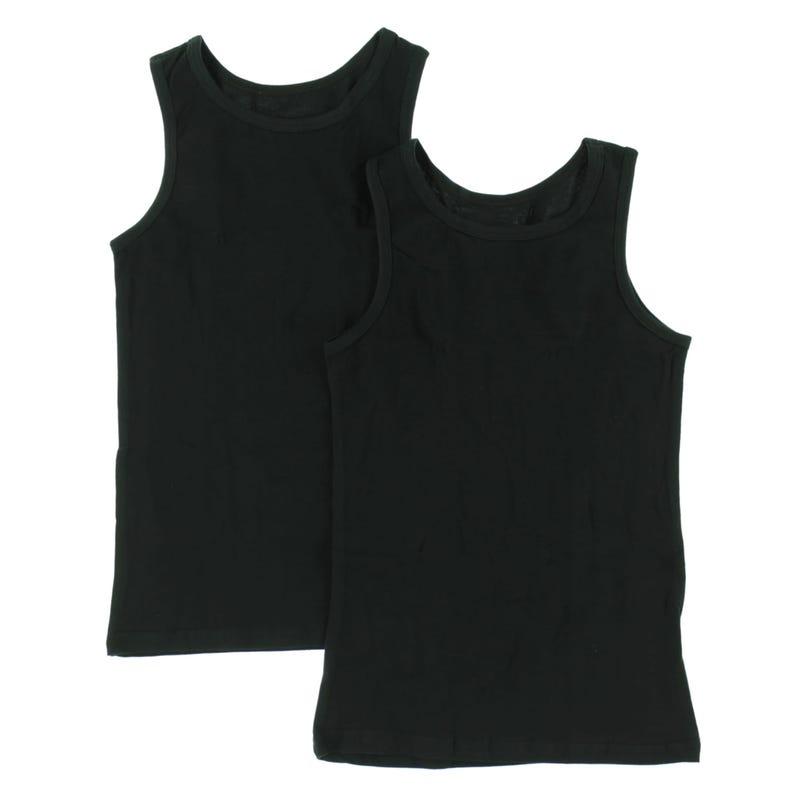 Camisole Paquet de 2 6-14ans - Noir