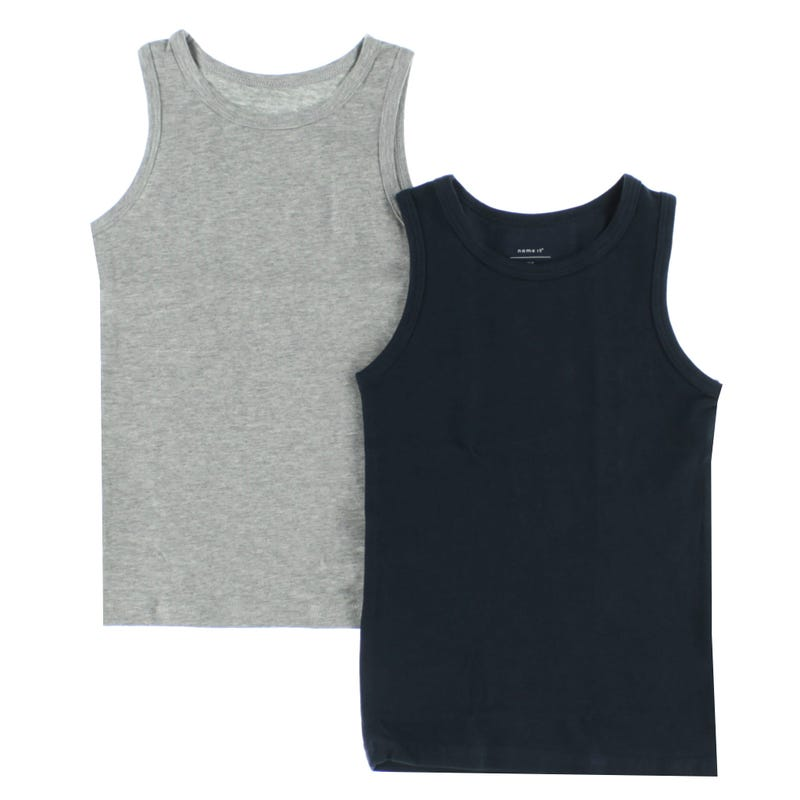 Tank Top 2PCK Grey Melange