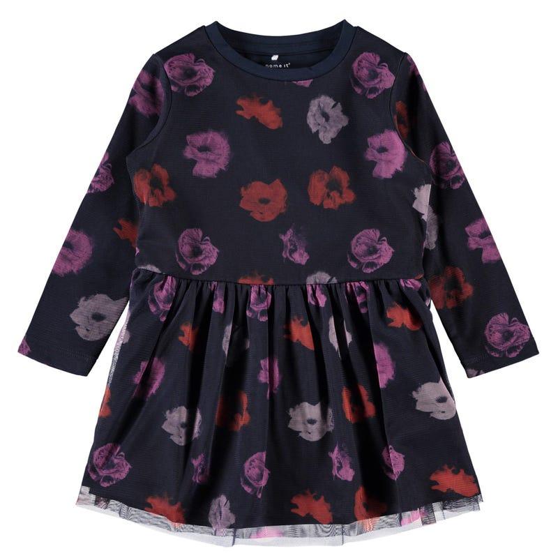 Robe Tulle Fleurs Givrées 2-8ans