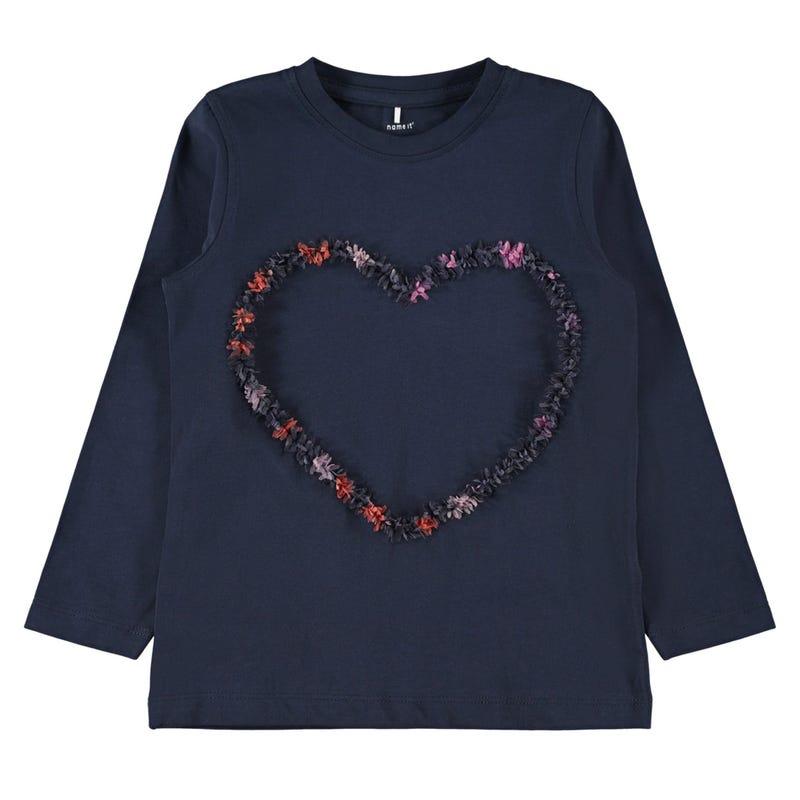 T-Shirt à Manches Longues Fleurs Givrées 2-8ans