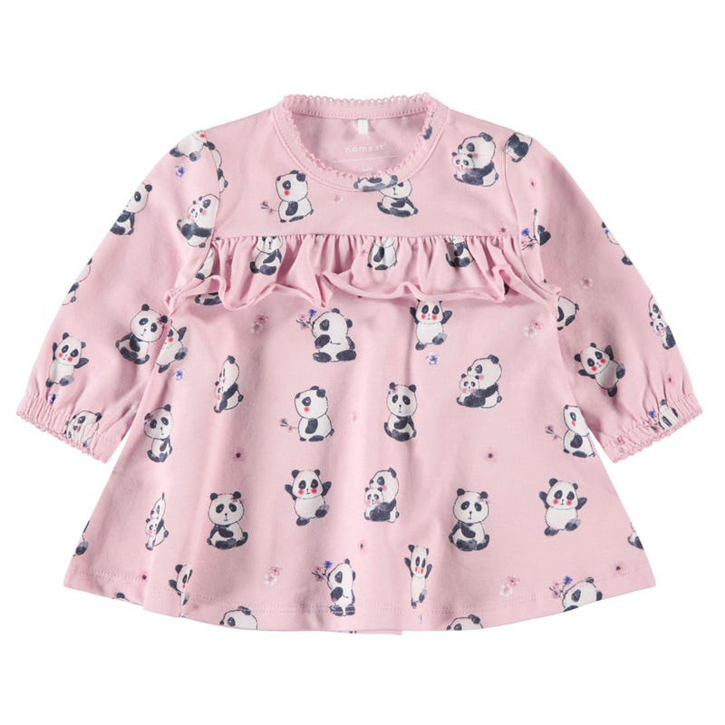 Cute Panda Frill Dress 9-18m
