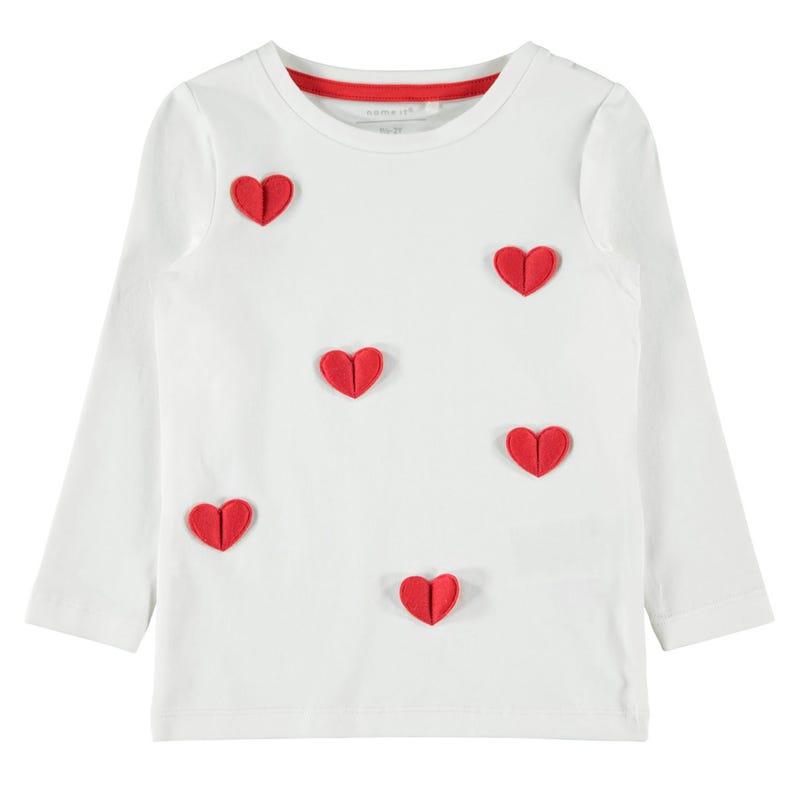 T-Shirt Coeurs Adorable 2-8