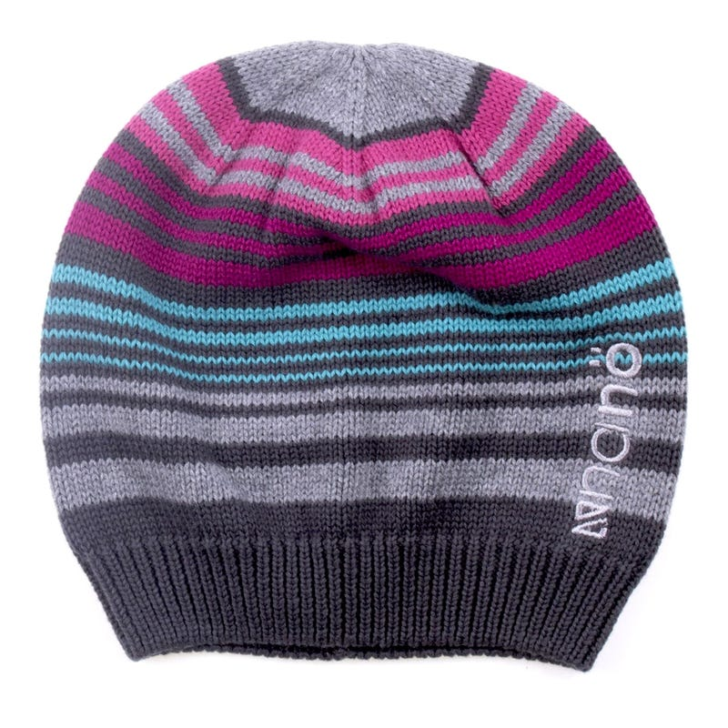 9ac3bc2b296 Tuque Tricot Rayee Fille 2-6x