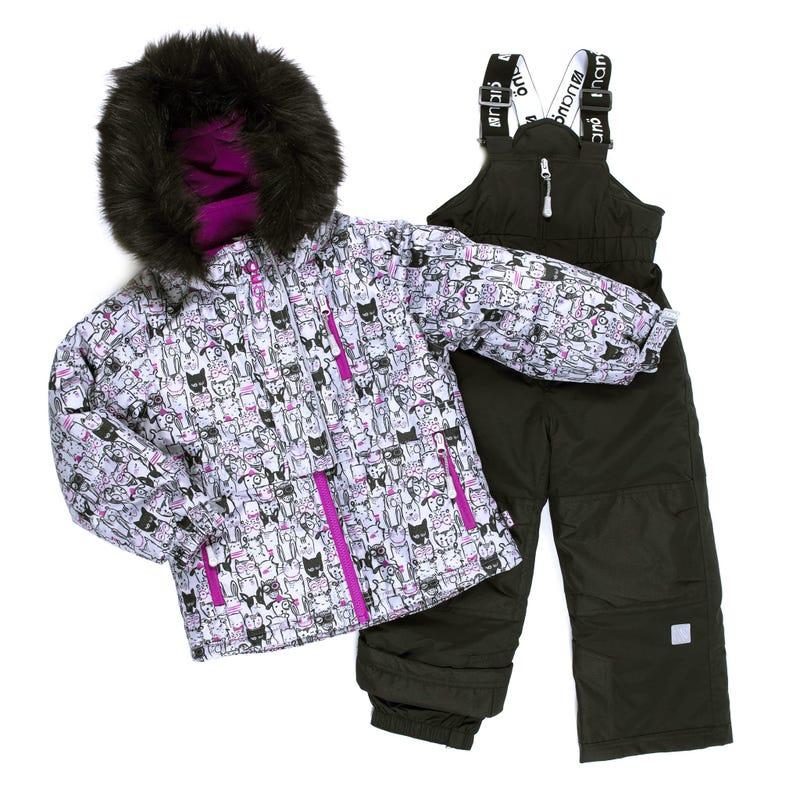 Cats Printed Snowsuit 2-6x