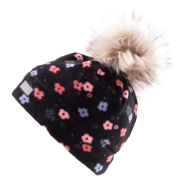Flowers Fleece Beanie 7-12