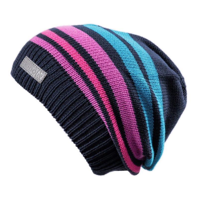 Knit Striped Beanie 7-12y