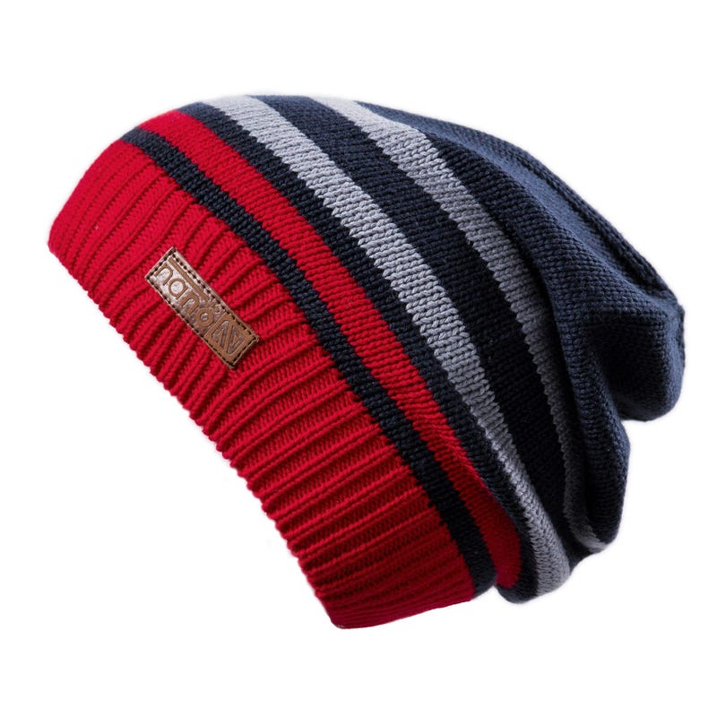 Knit Striped Beanie 7-12y