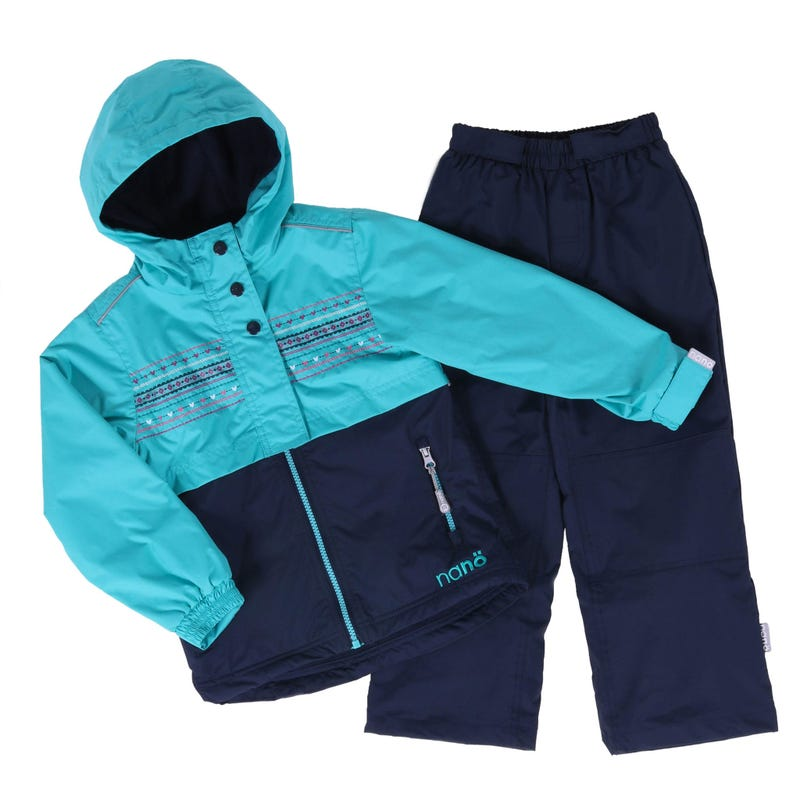 Turquoise Block 2 Pieces Outerwear 7-10y