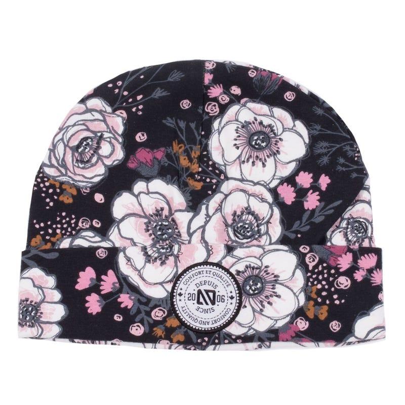 Tuque Coton Fleurs 7-12ans