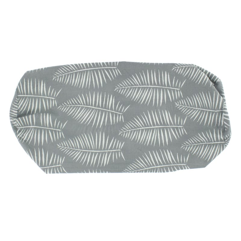 Nursing Pillow Cover - Grey Leaves
