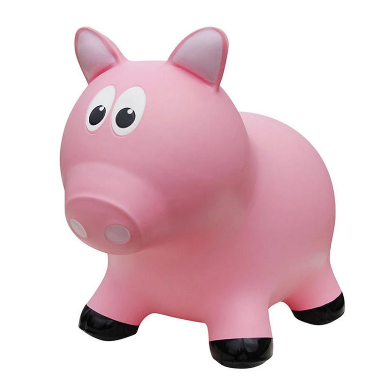 Farm Hoppers Jumping Animals - Pig Pink