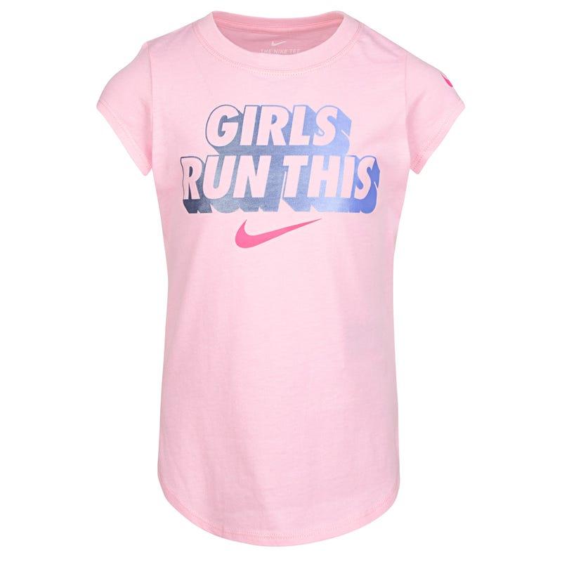 Girls Run This T-shirt 4-6x