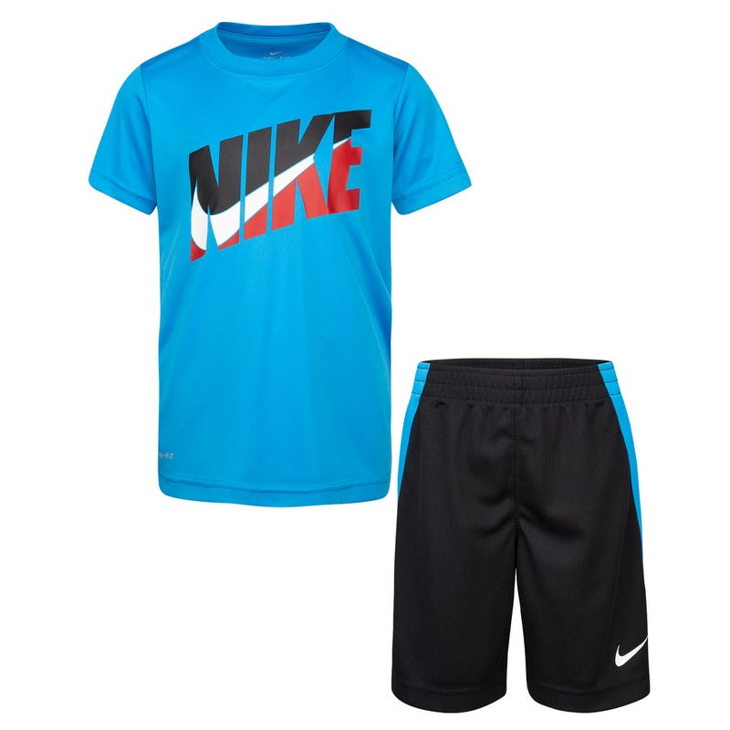 Tri-Color Nike Shorts Set 12-24m