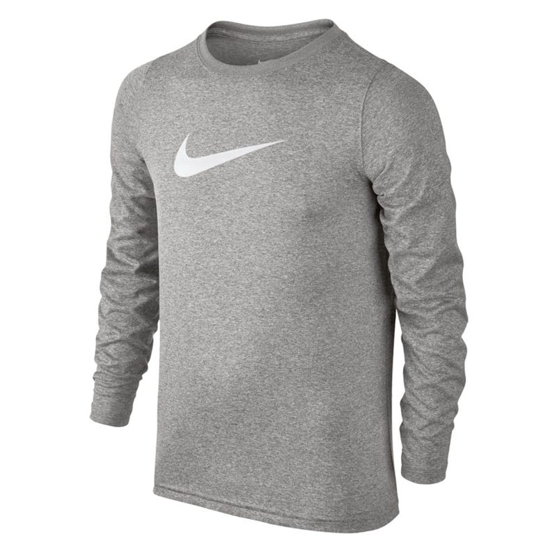 Swoosh Long Sleeve T-Shirt 8-16y - Grey