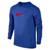T-Shirt à Manches Longues Swoosh 8-16ans - Rouge