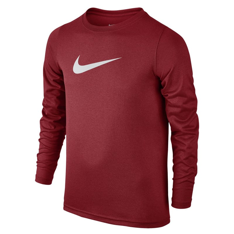 Swoosh Long Sleeve T-Shirt 8-16y - Red