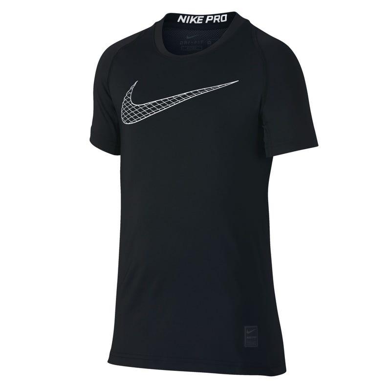 T-Shirt Noir Nike Pro 8-16ans