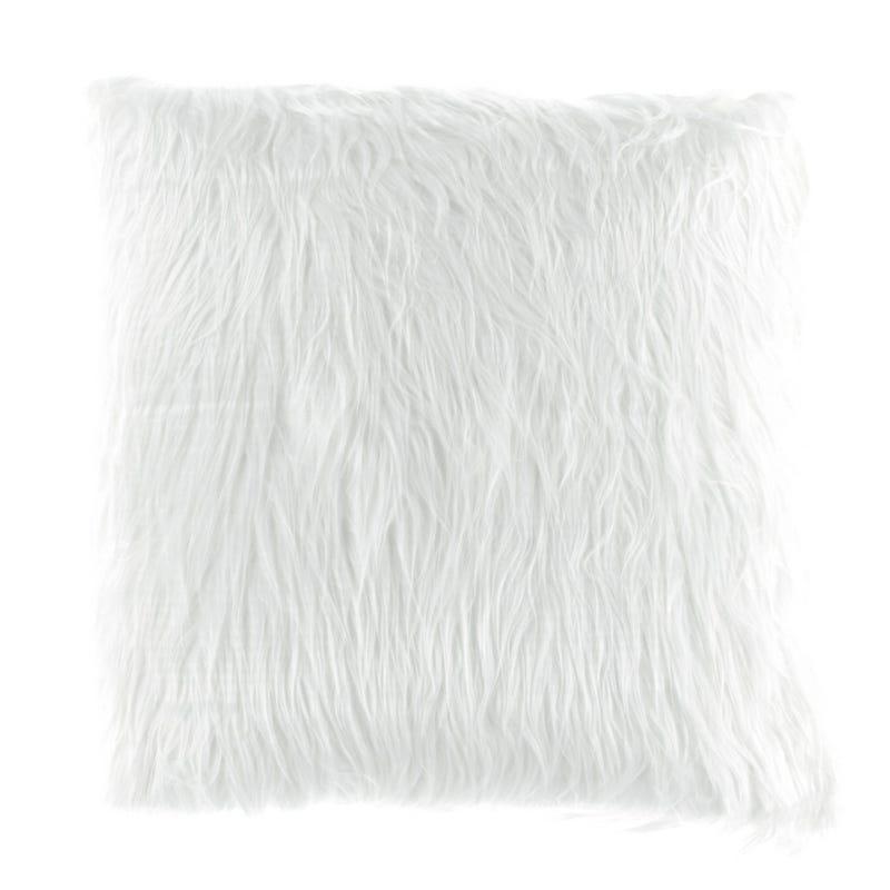 Coussin Fourrure Blanc