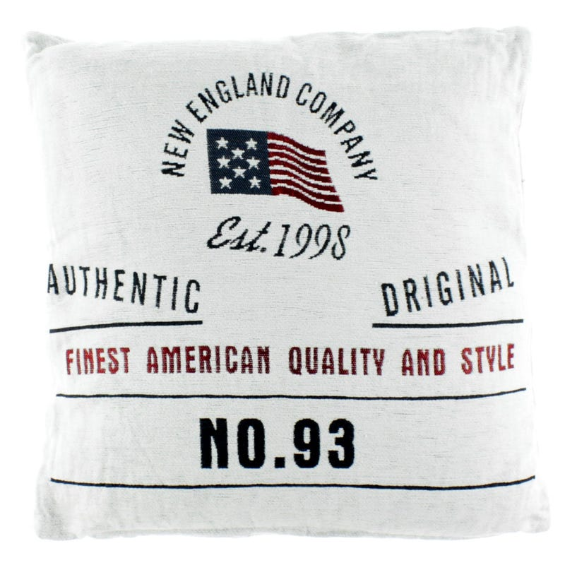 Coussin New England- Blanc