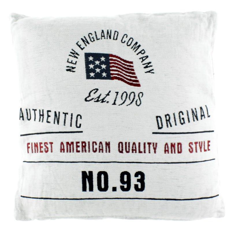 Coussin Blanc N England**45cm