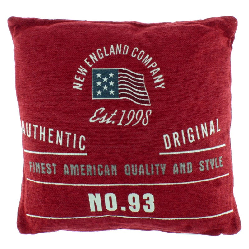 Coussin New England - Rouge