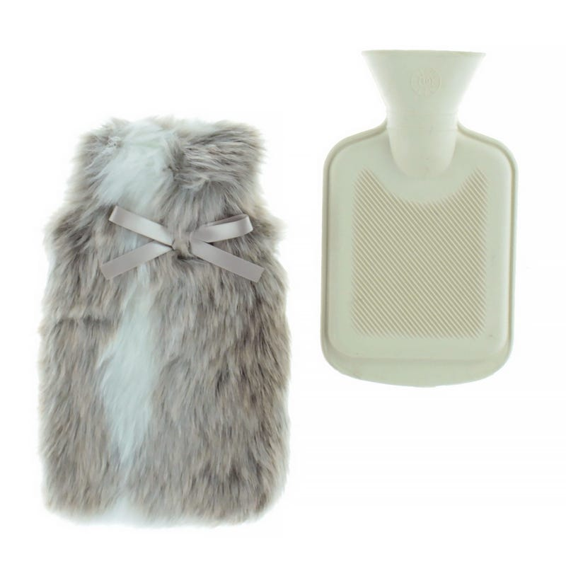 Hot Water Bottle in Fur