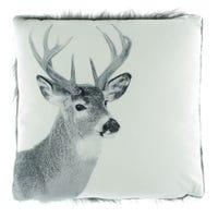 Cushion Moose Fur Grey