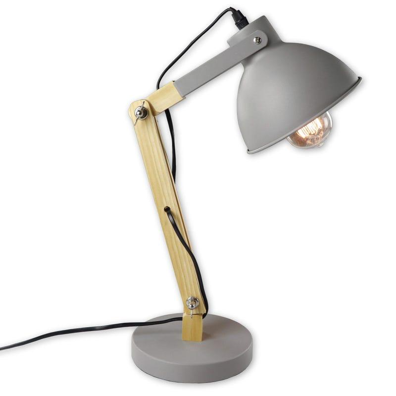 Lamp Metal And Wood