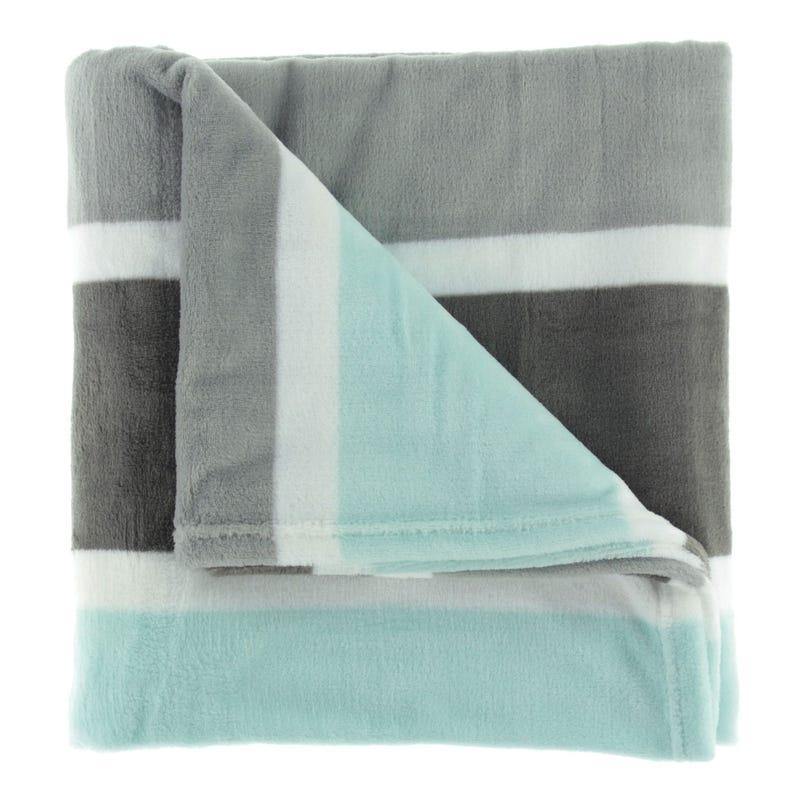Throw Stripes - Aqua