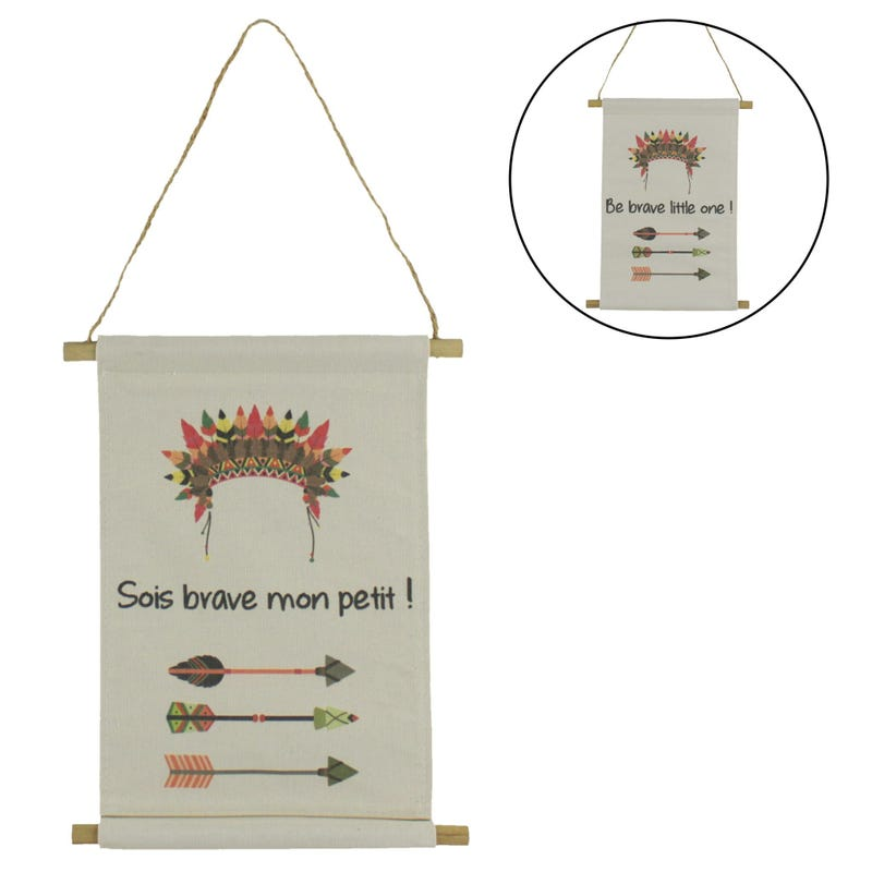 Be Brave Flag Wall Decoration