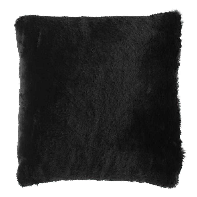 Coussin Fourrure Noire