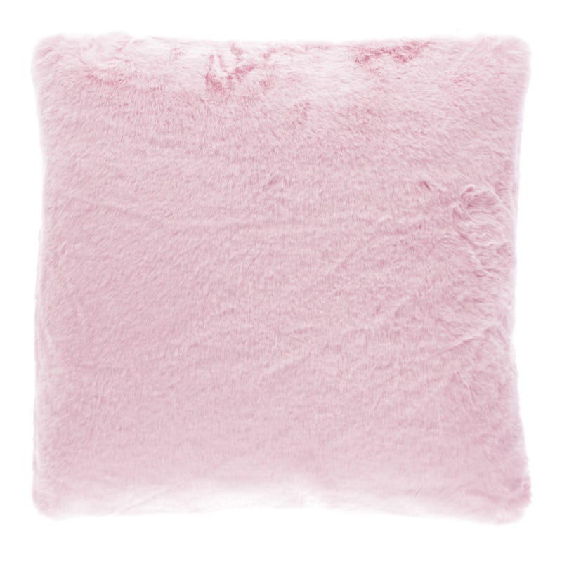 Cushion Fur Pink 45x45