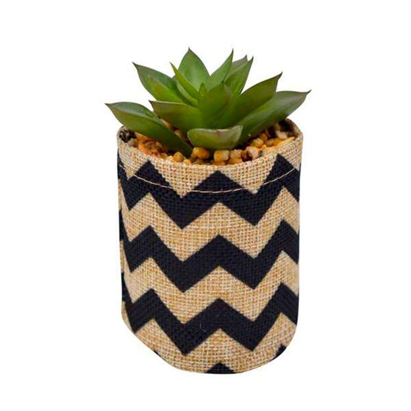 Burlap Cactus Pot