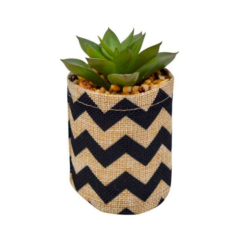 Pot Cactus en Jute - Chevron
