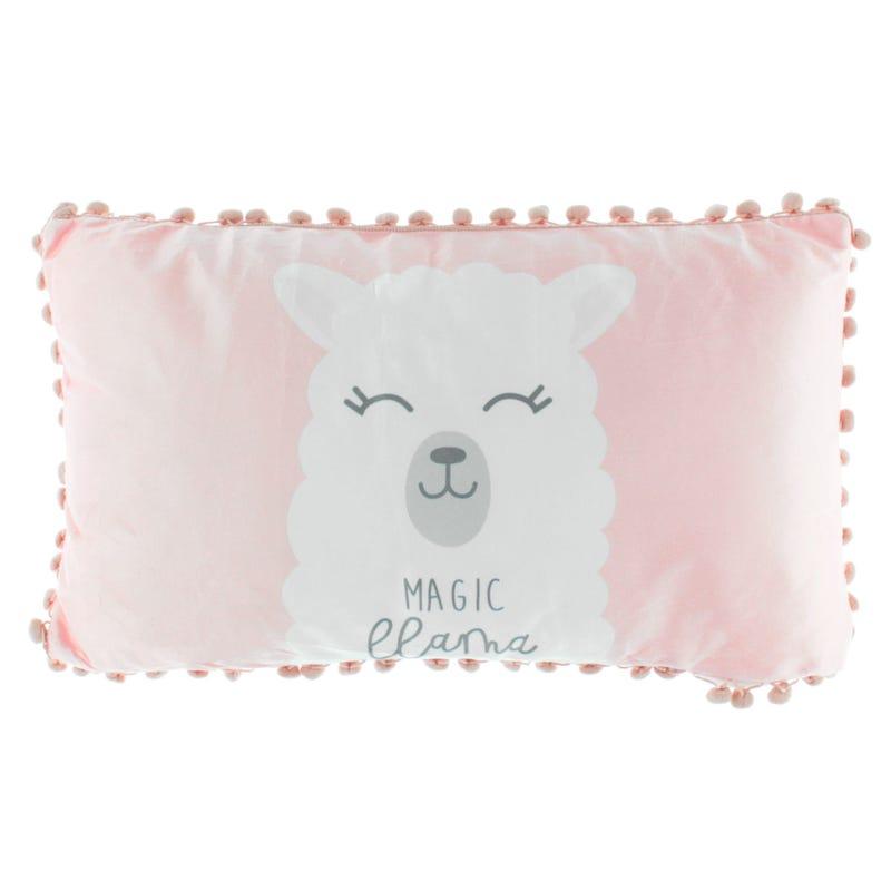 Cushion Llama Pink Pompom