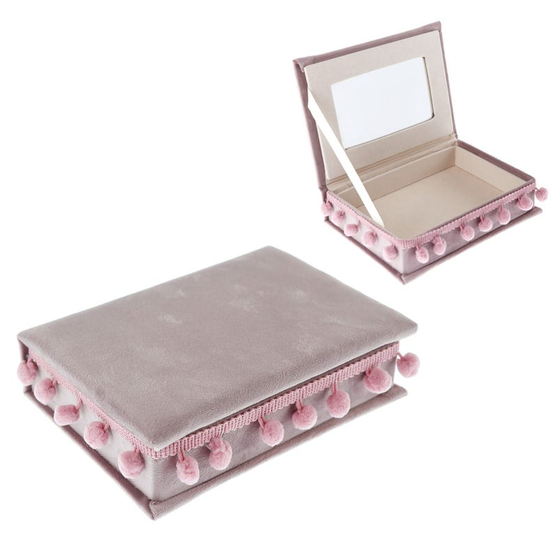 Box in Velours - Pink