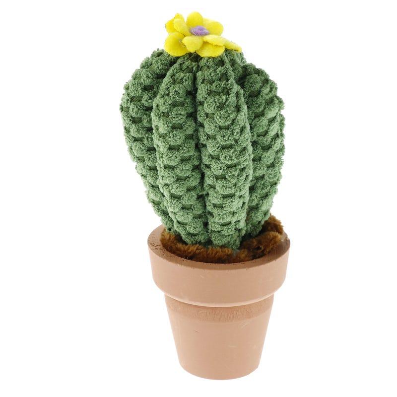 Cactus Fleur Jaune En Tricot