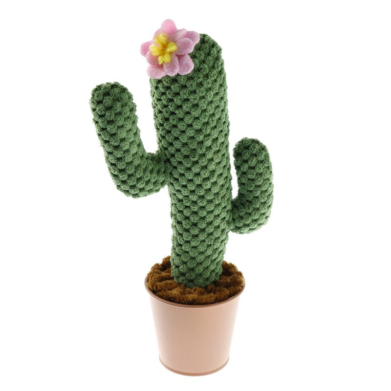 Cactus Fleur Rose En Tricot