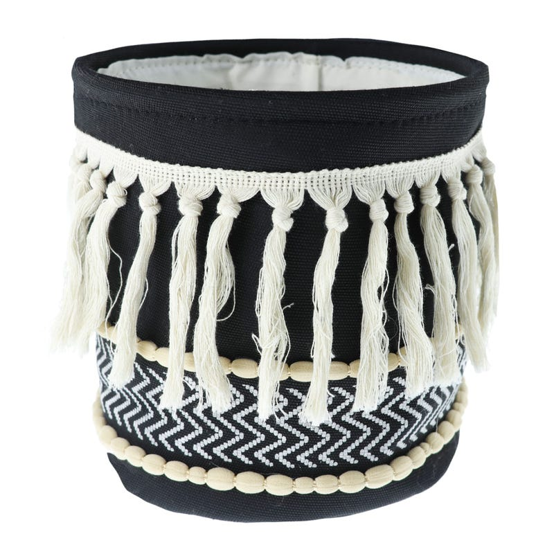 Basket Macrame - Black