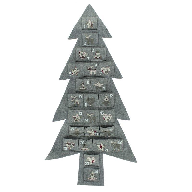 Calendrier de l'Avent Sapin de Noël - Gris