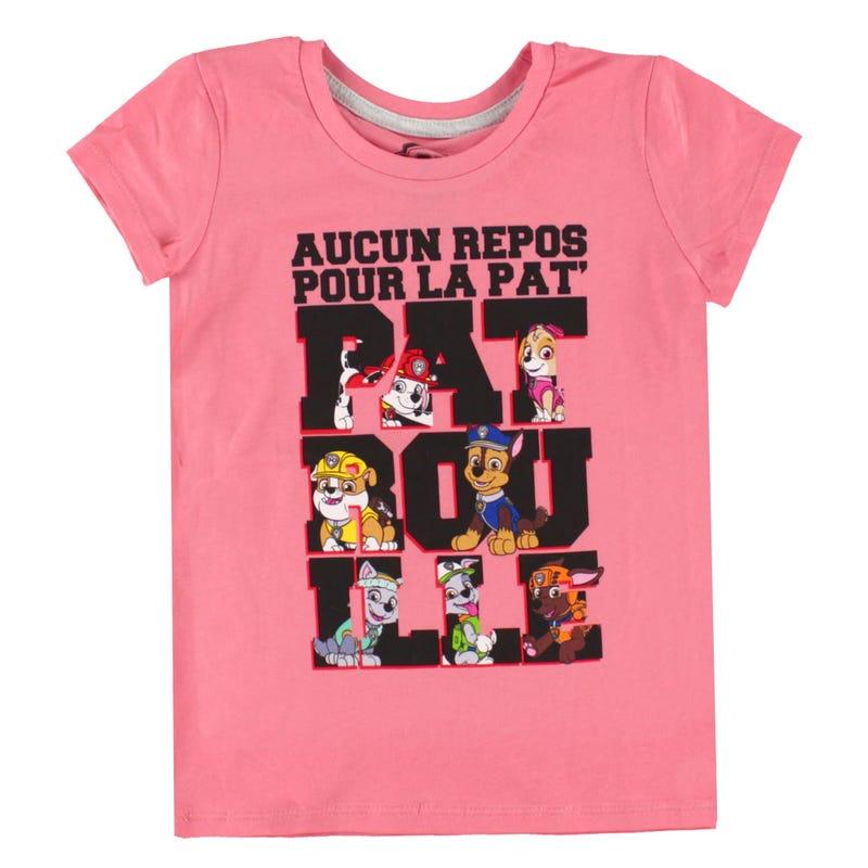 T-Shirt Pat Patrouille 4-6ans - Rose