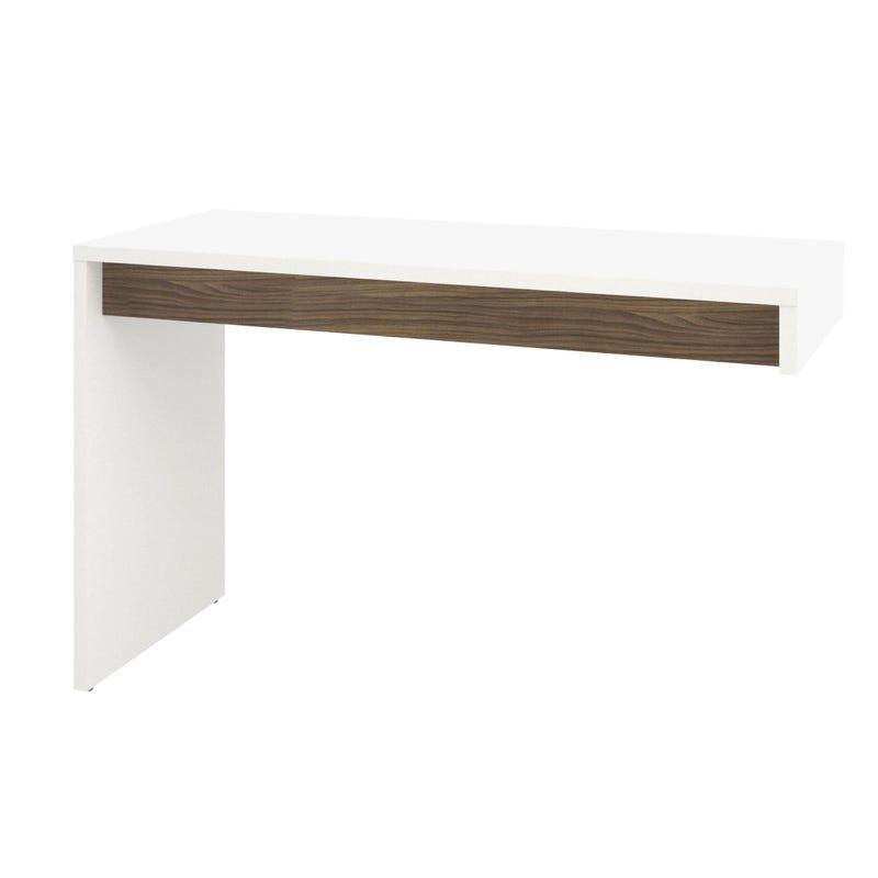 Liber-T Reversible Desk Panel - White and Walnut