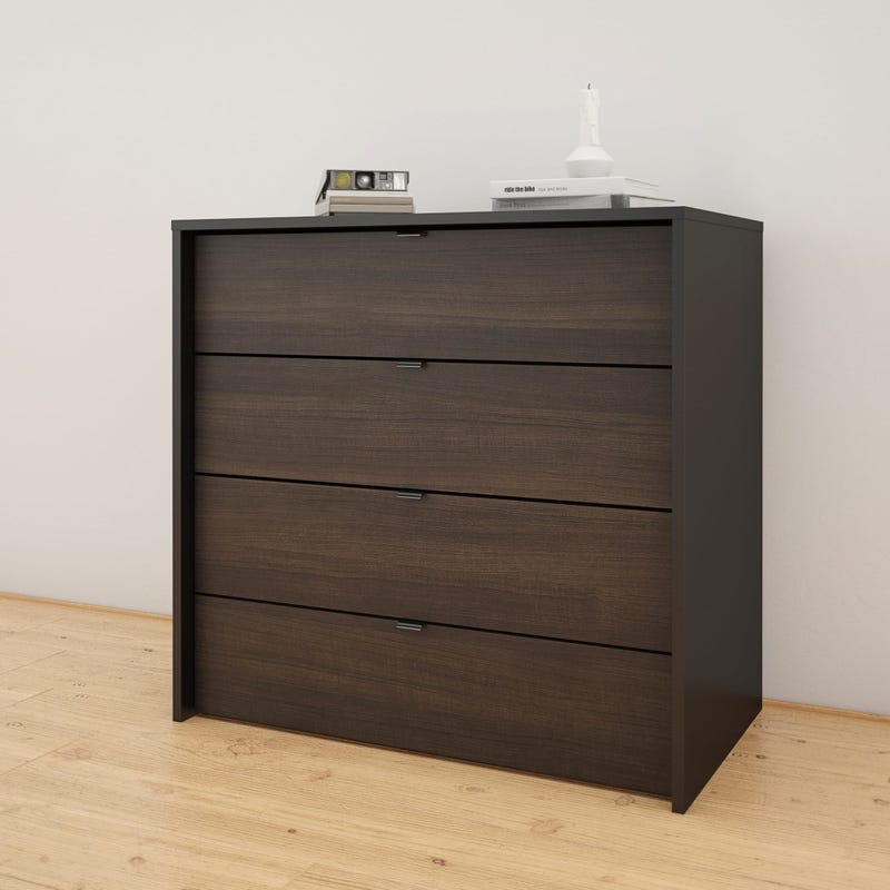 Celeste 4-Drawer Chest - Black and Ebony