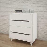 Aura 4-Drawer Chest - White