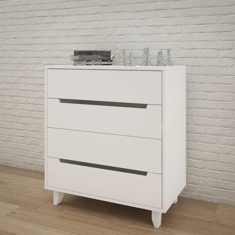 Aura 4-Drawer Chest - White
